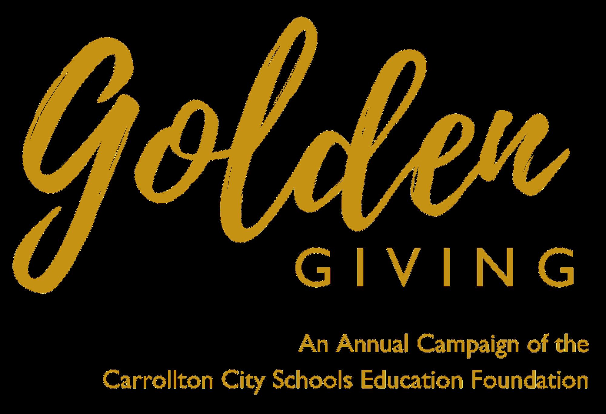 Golden Giving Campaign - Carrollton City Schools