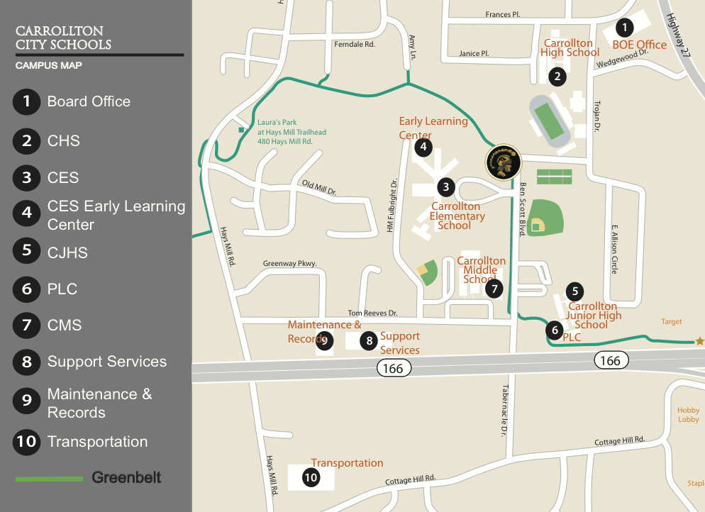 Carrollton City Schools Campus Map